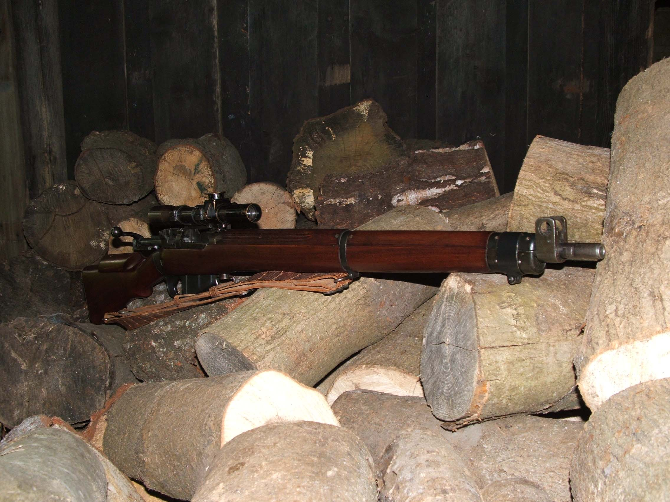 303 British Sniper Rifles http://www.kirkemmerich.co.uk/past-sales/rifles-requiring-a-firearms-license/british-rifles-sold/303-no-4-t-sniper-rifle/