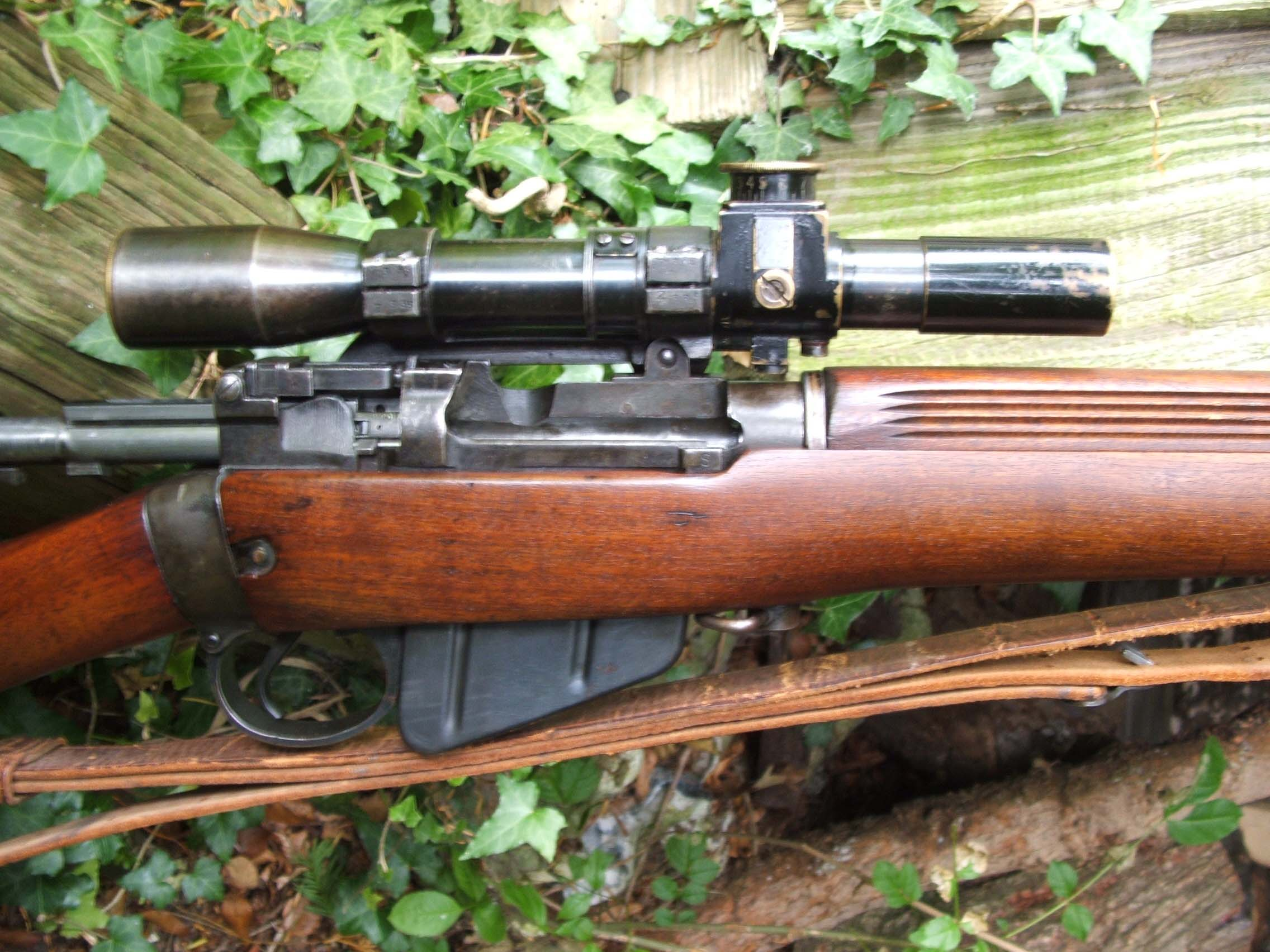 303 British Sniper Rifles http://www.byswordandmusket.co.uk/past-sales/rifles-requiring-a-firearms-license/british-rifles-sold/303-no-4-t-sniper-rifle/