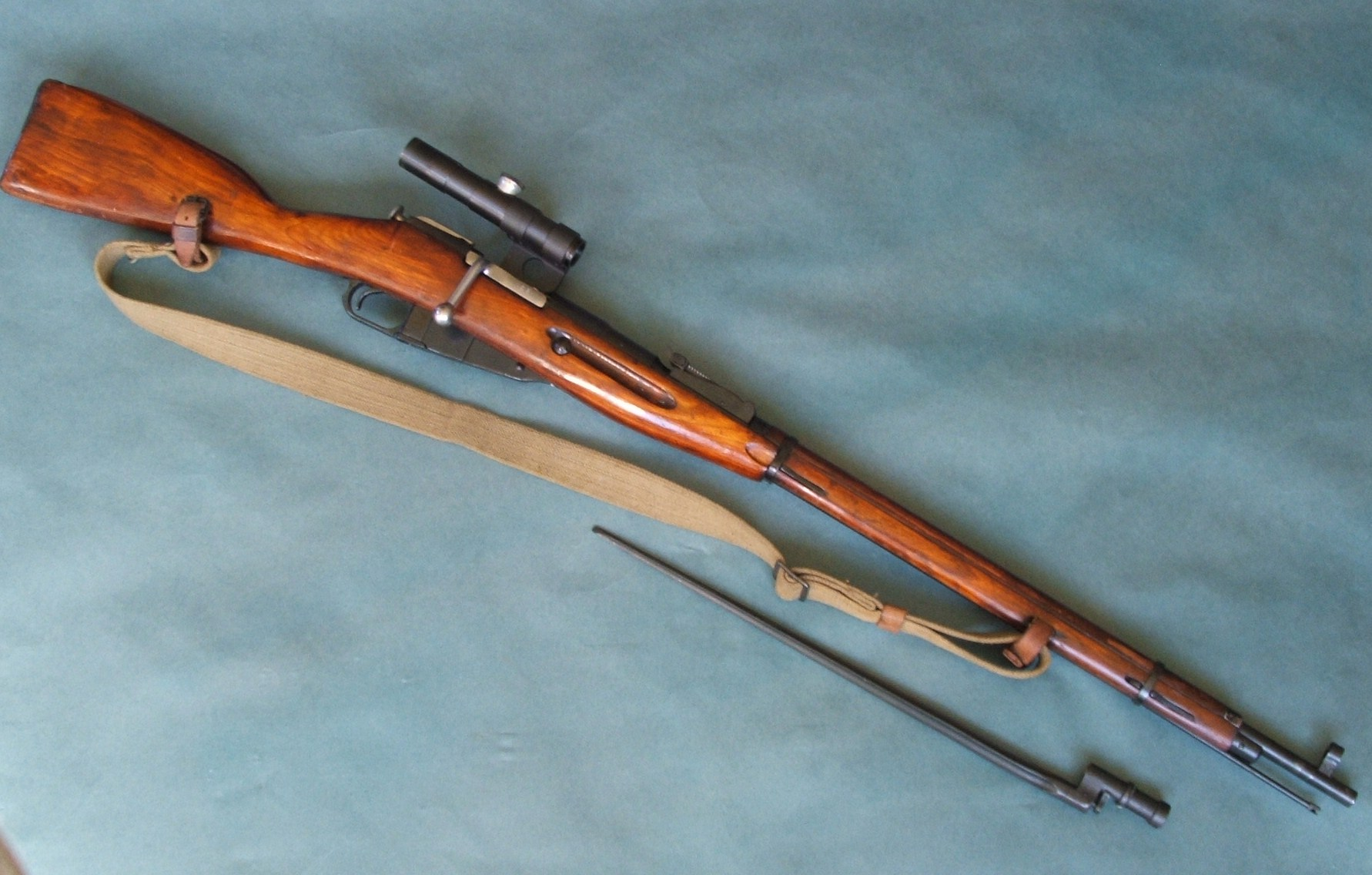 of the Famous 7.62 Russian Mosin Nagant Bolt Action Sniper Rifle